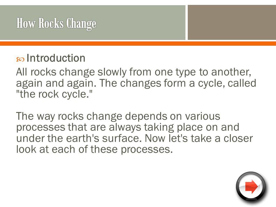 How Rocks Change Introduction