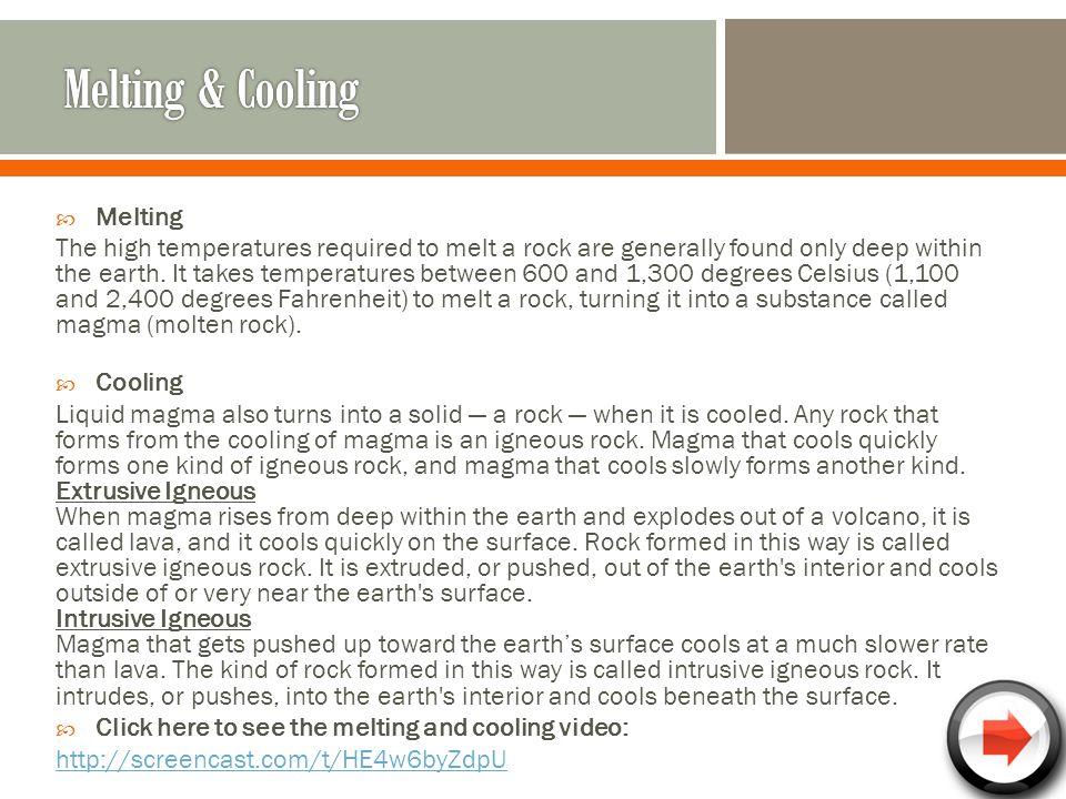 Melting & Cooling Melting