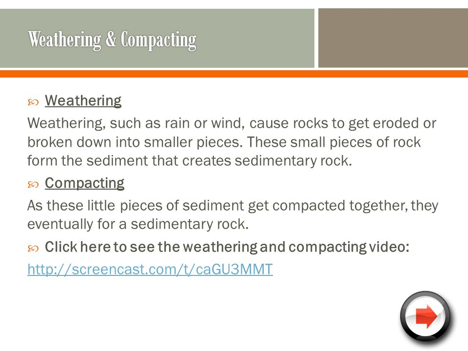 Weathering & Compacting