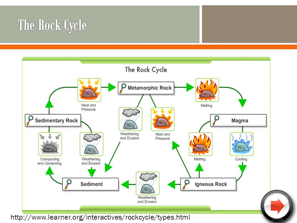 The Rock Cycle http://www.learner.org/interactives/rockcycle/types.html