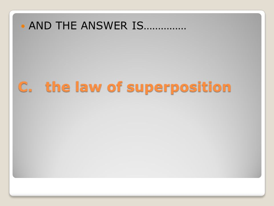 C. the law of superposition