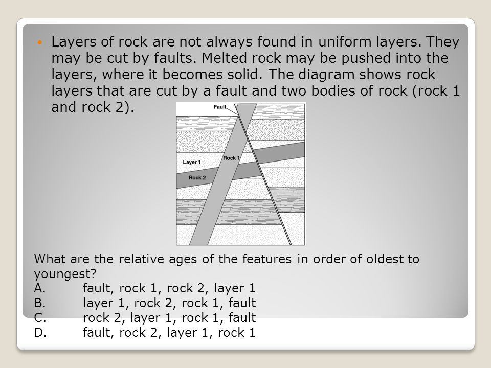 Layers of rock are not always found in uniform layers