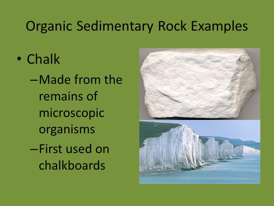 Organic Sedimentary Rock Examples