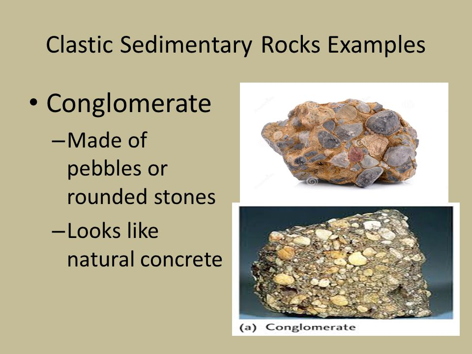 Clastic Sedimentary Rocks Examples