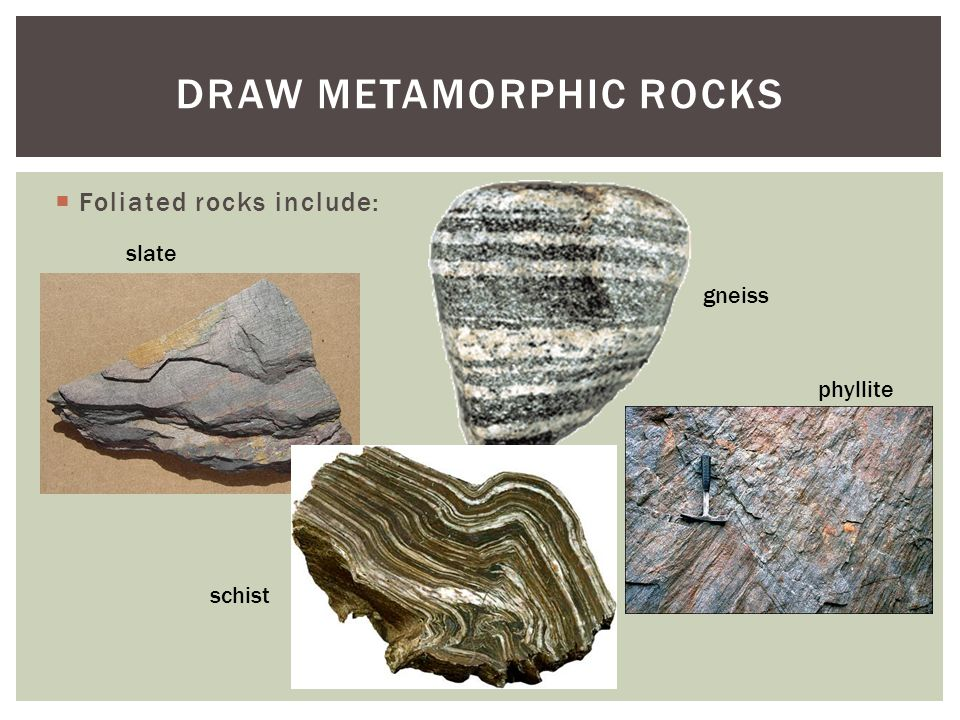 DRAW Metamorphic rocks