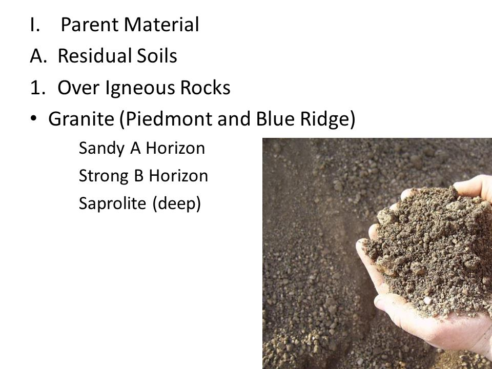 Granite (Piedmont and Blue Ridge)