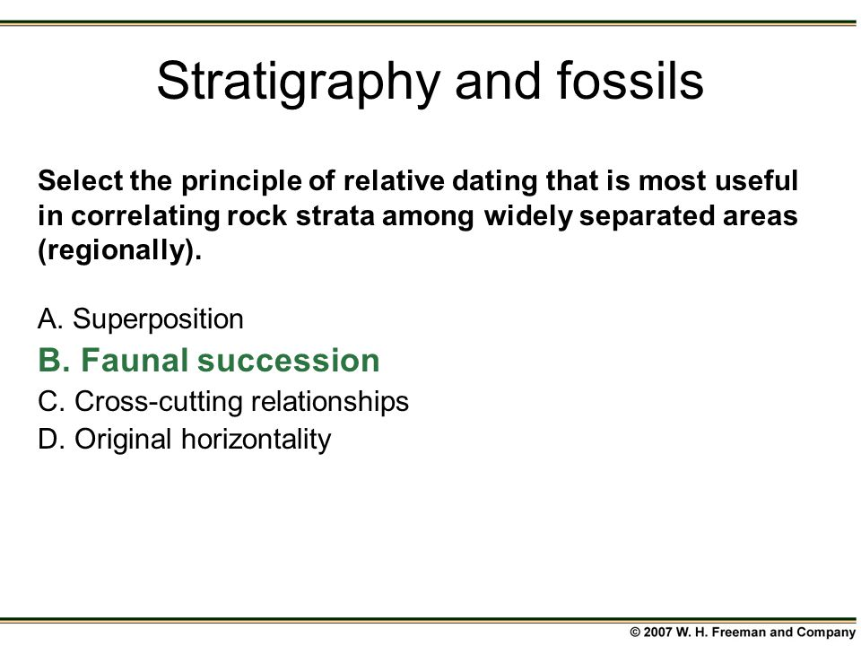 Stratigraphy relative dating