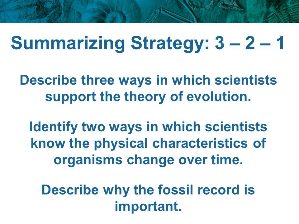 Summarizing Strategy: 3 – 2 – 1