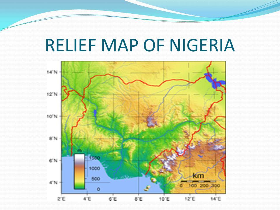 RELIEF MAP OF NIGERIA