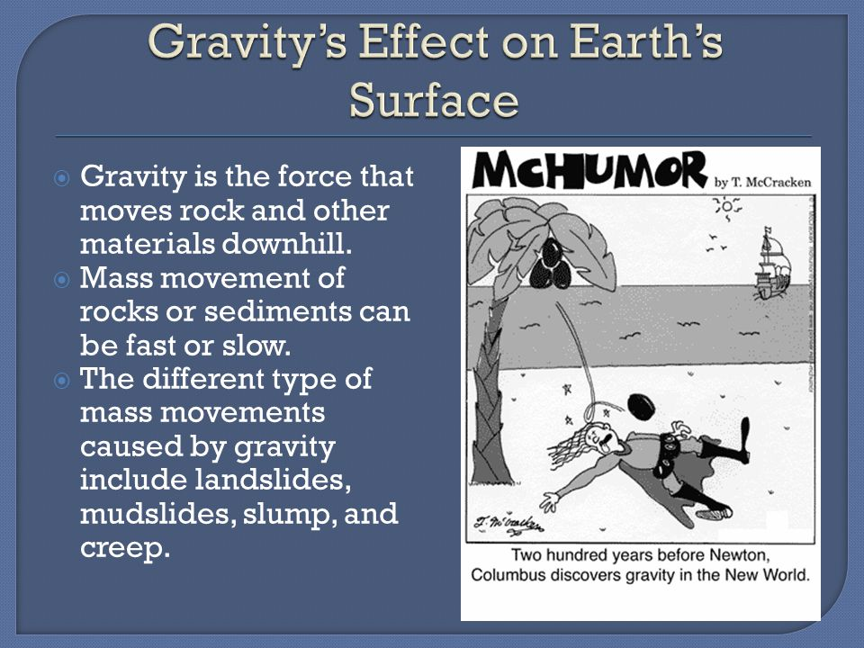 Gravity's Effect on Earth's Surface