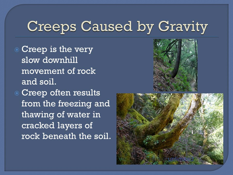 Creeps Caused by Gravity