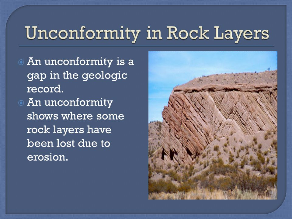 Unconformity in Rock Layers
