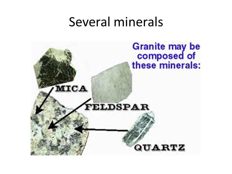 Several minerals