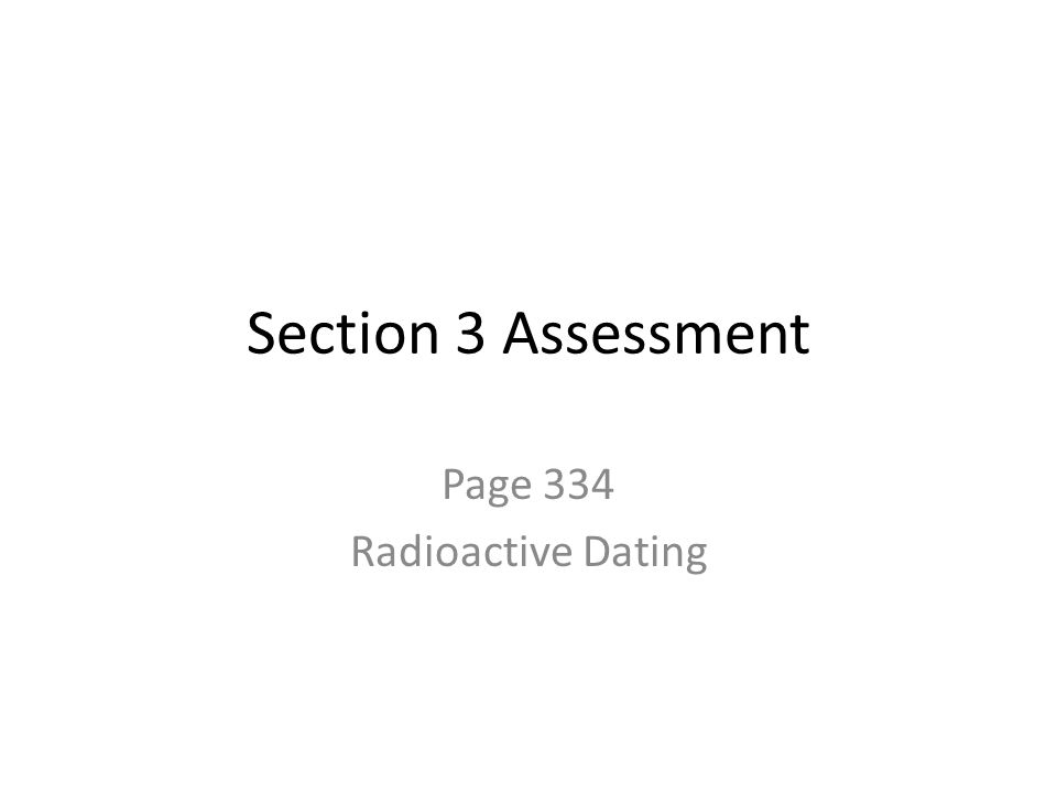 Page 334 Radioactive Dating