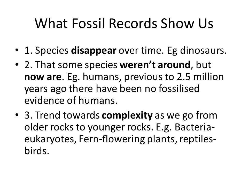 What Fossil Records Show Us