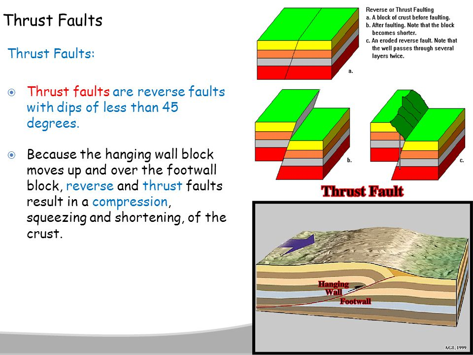 Thrust Faults Thrust Faults: