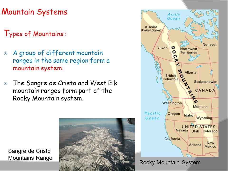 Mountain Systems Types of Mountains :