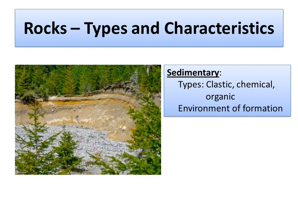 Rocks – Types and Characteristics