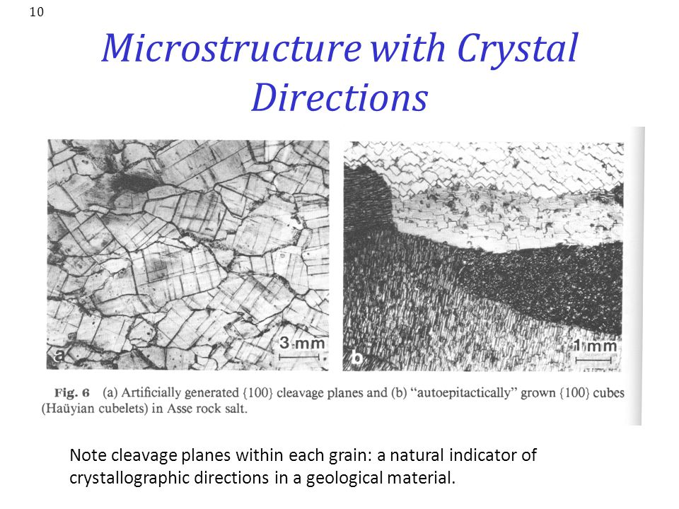 Microstructure with Crystal Directions