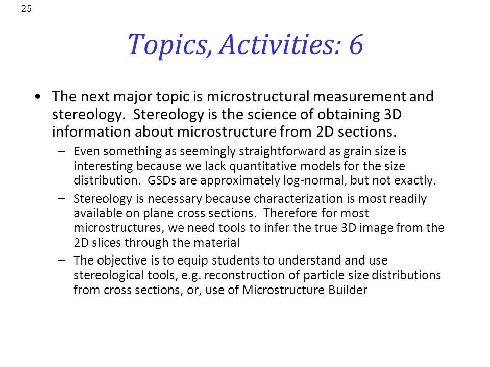 Topics, Activities: 6