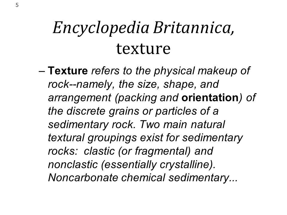 Encyclopedia Britannica, texture