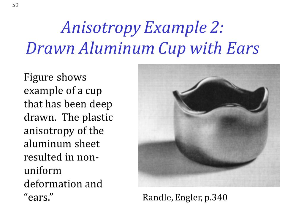 Anisotropy Example 2: Drawn Aluminum Cup with Ears