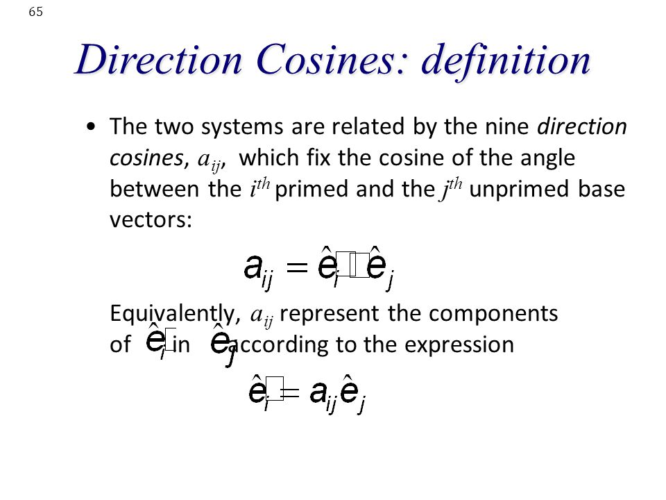 Direction Cosines: definition
