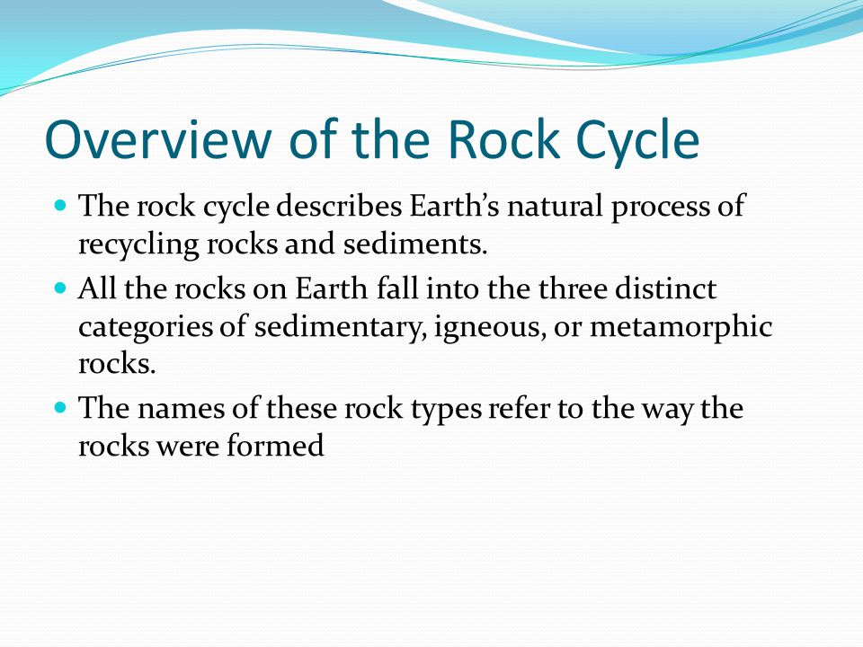 Overview of the Rock Cycle