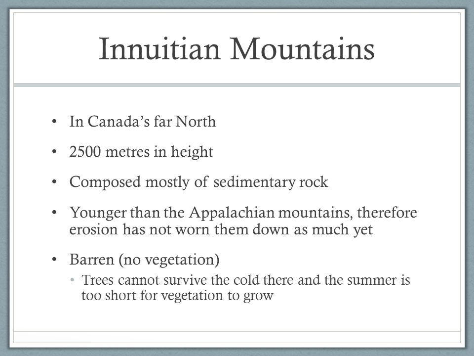 Innuitian Mountains In Canada's far North 2500 metres in height