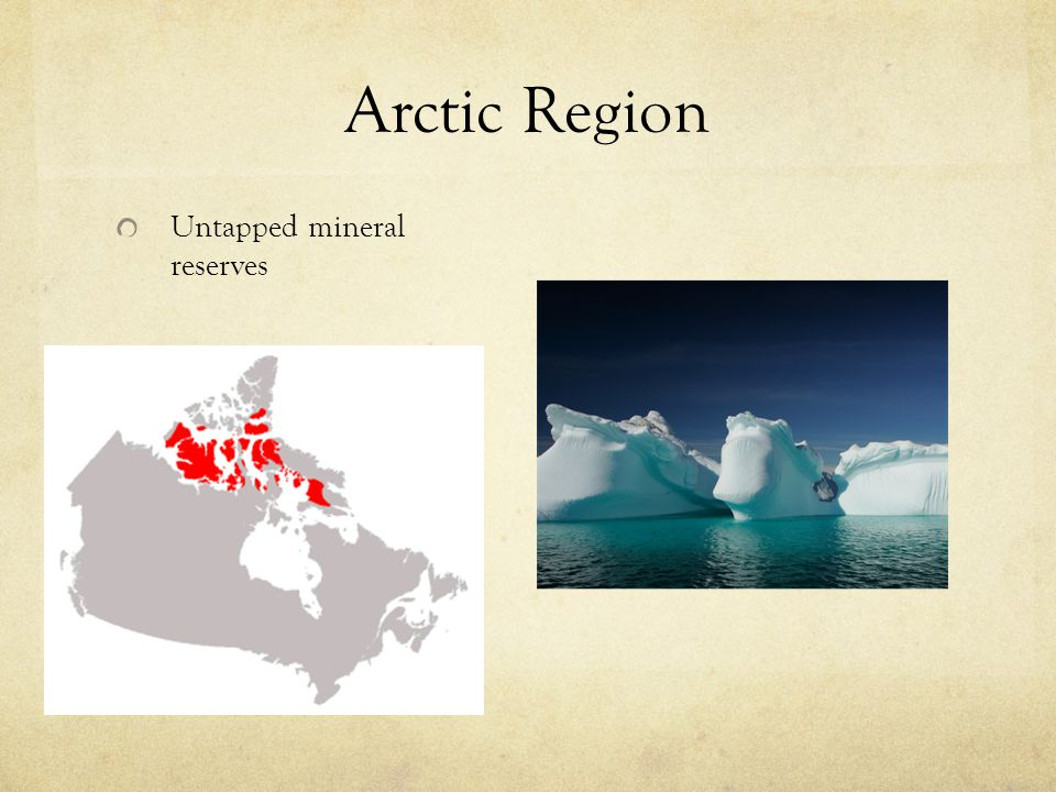 Arctic Region Untapped mineral reserves