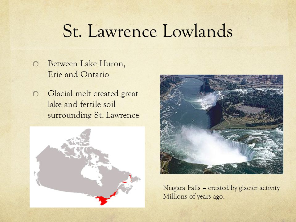 St. Lawrence Lowlands Between Lake Huron, Erie and Ontario