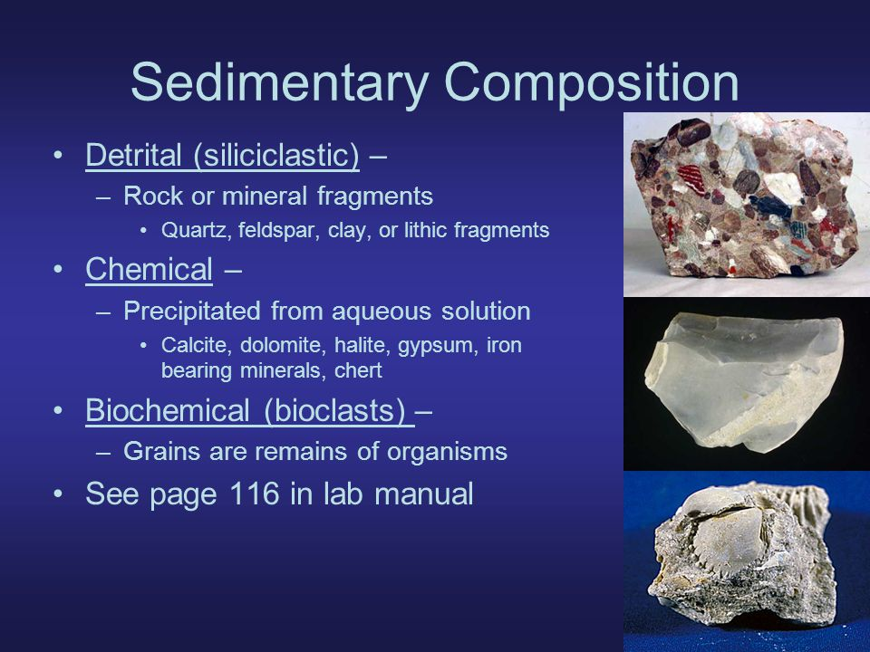 Sedimentary Composition
