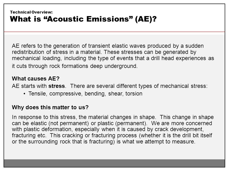 What is Acoustic Emissions (AE)