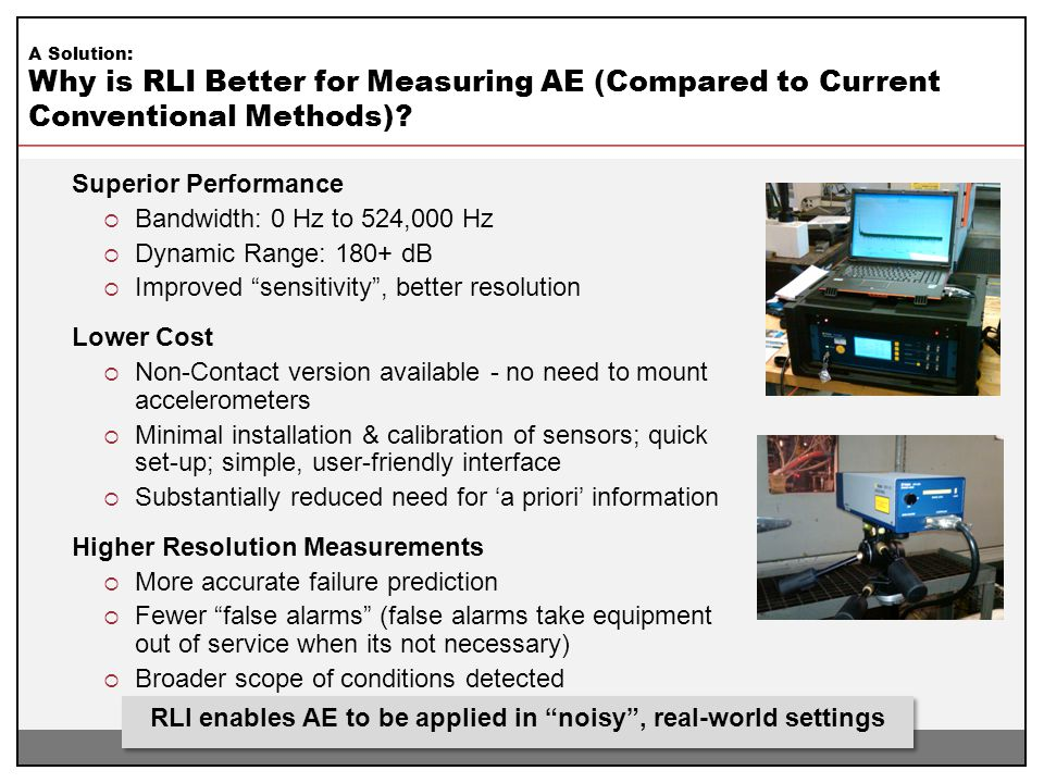 RLI enables AE to be applied in noisy , real-world settings