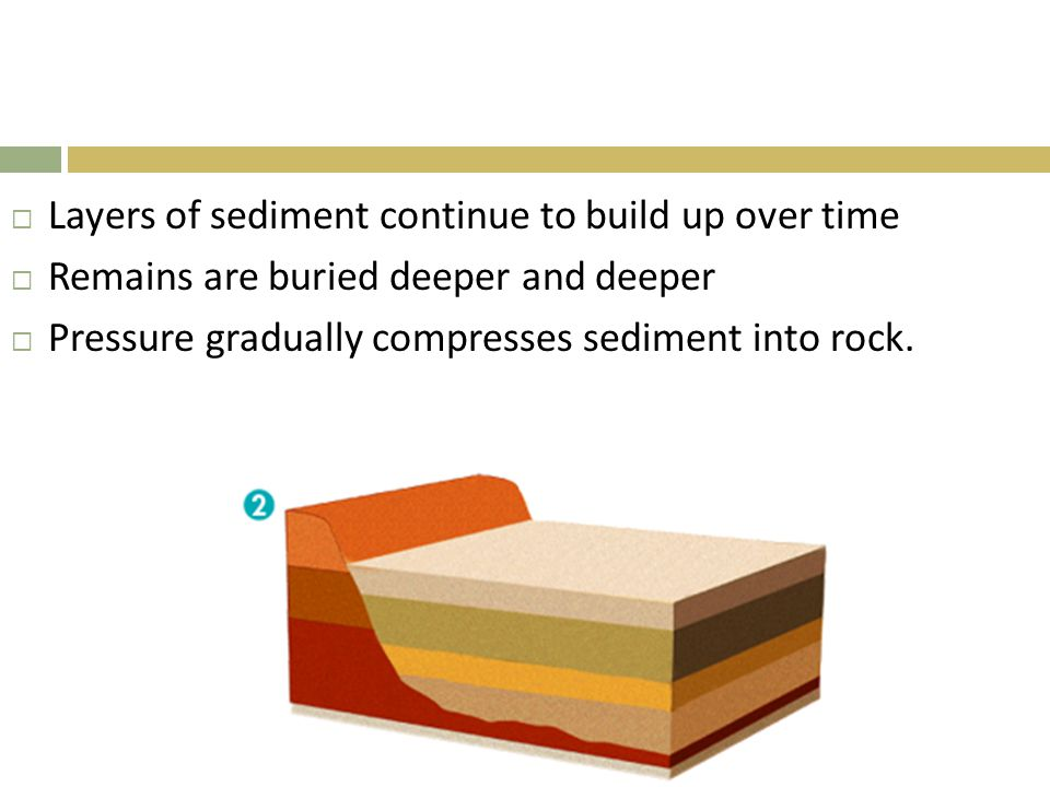 Layers of sediment continue to build up over time