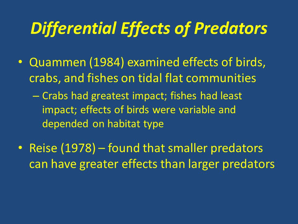 Differential Effects of Predators