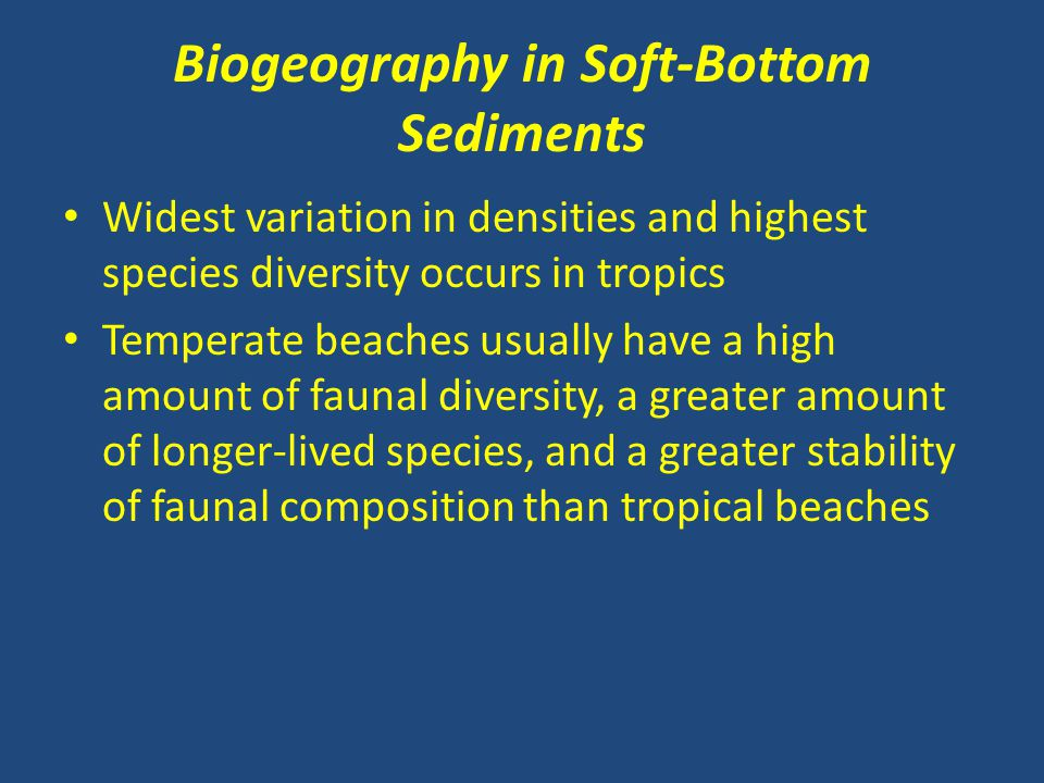 Biogeography in Soft-Bottom Sediments