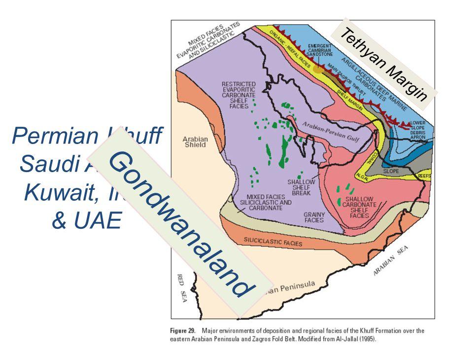 Gondwanaland Permian Khuff Saudi Arabia Kuwait, Iran & UAE
