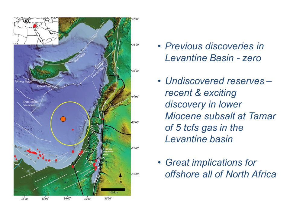 Previous discoveries in Levantine Basin - zero