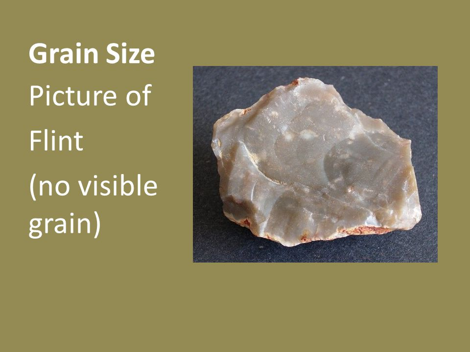 Grain Size Picture of Flint (no visible grain)