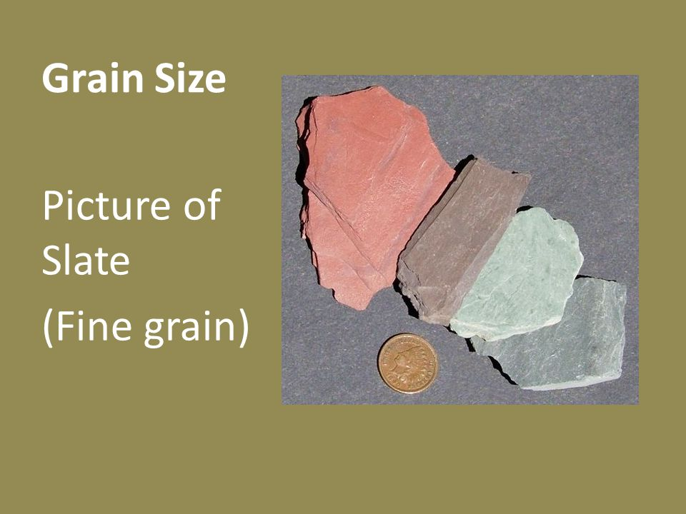 Grain Size Picture of Slate (Fine grain)