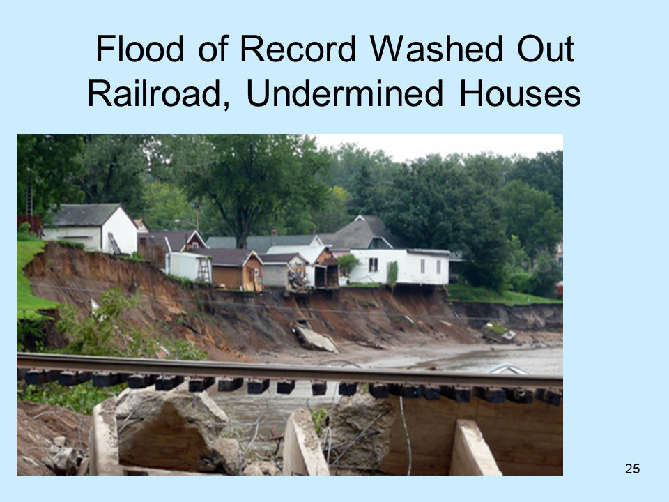 Flood of Record Washed Out Railroad, Undermined Houses