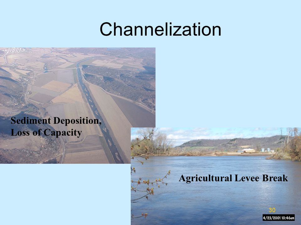 Channelization Sediment Deposition, Loss of Capacity