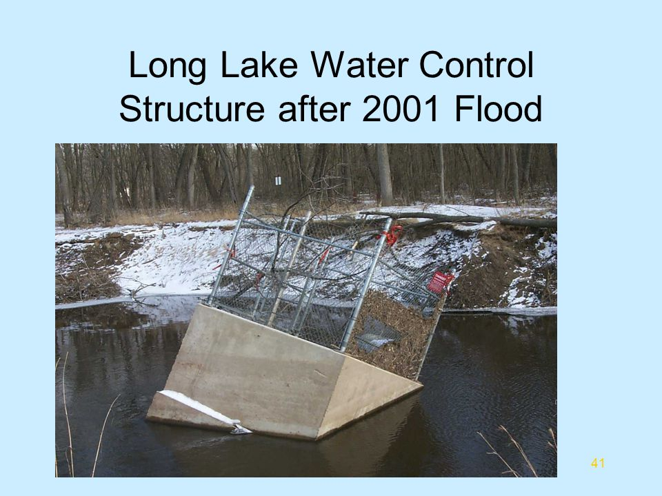 Long Lake Water Control Structure after 2001 Flood