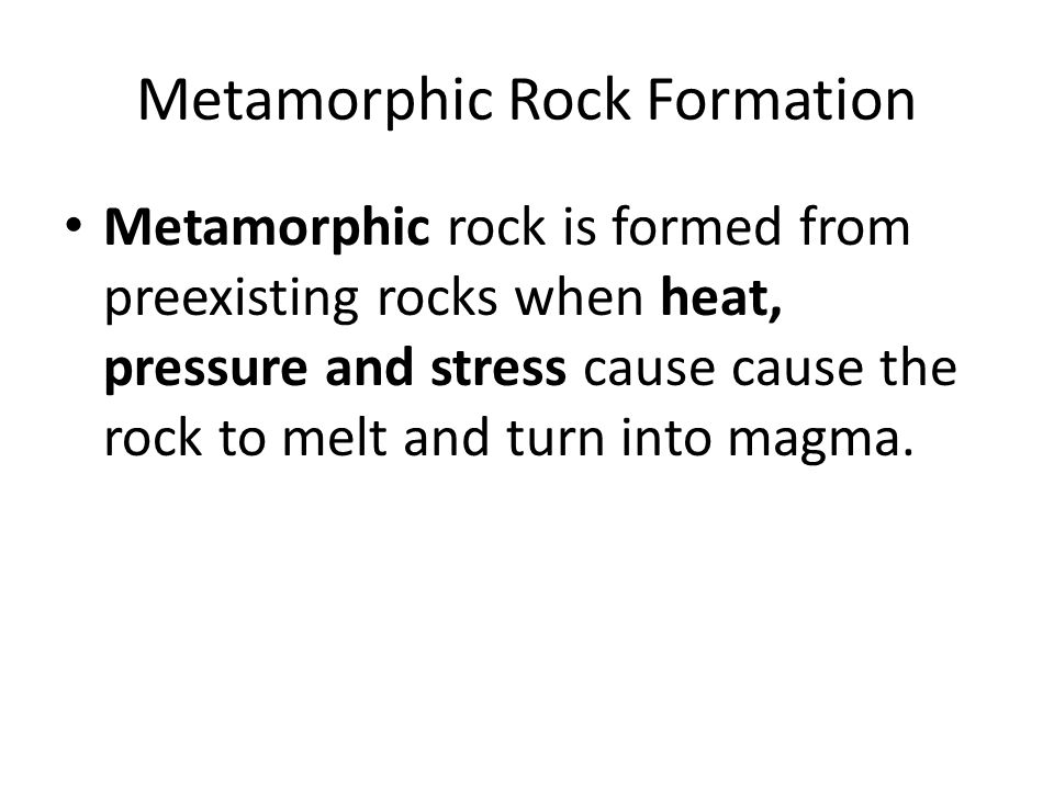 Metamorphic Rock Formation