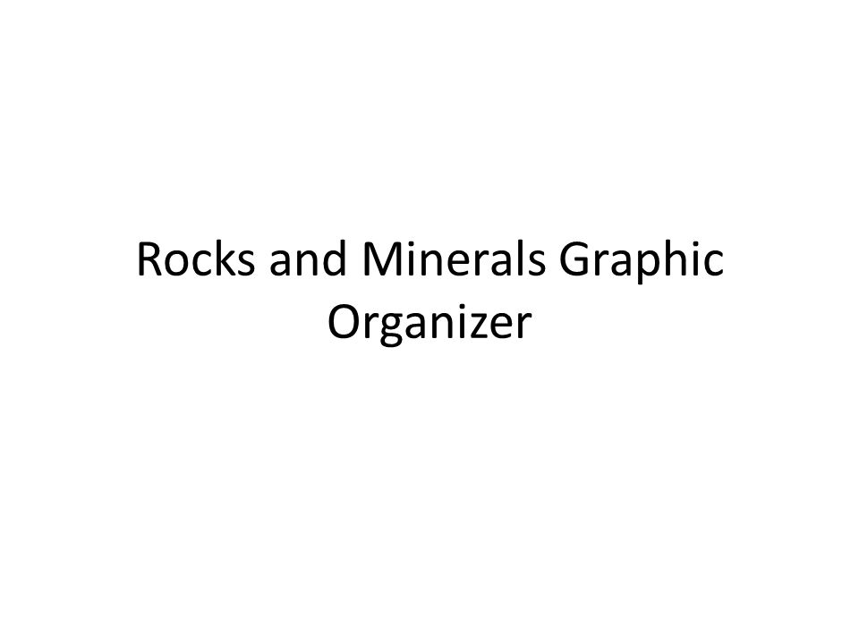 Rocks and Minerals Graphic Organizer
