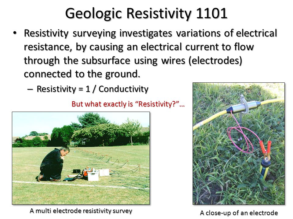 Geologic Resistivity 101 1.