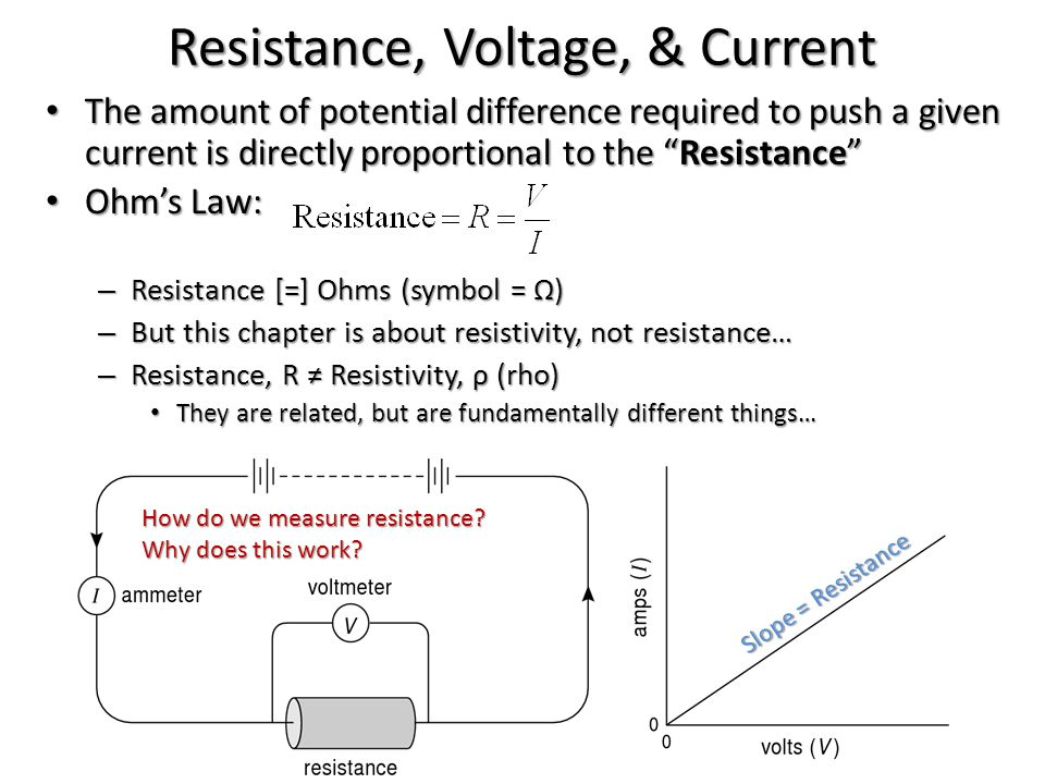 Resistance, Voltage, & Current