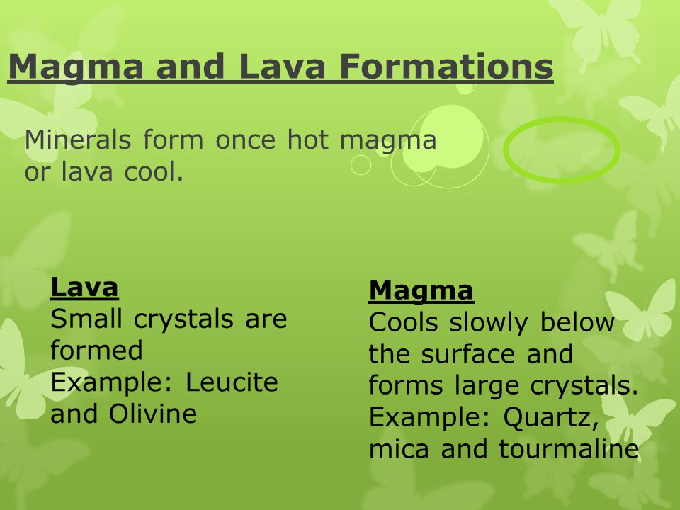 Magma and Lava Formations