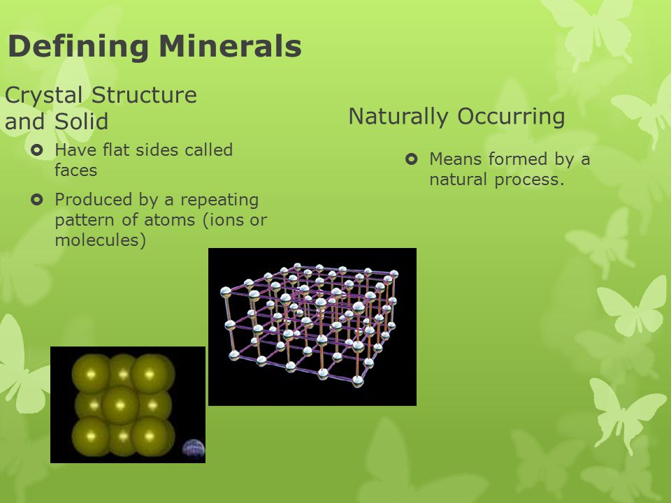 Defining Minerals Crystal Structure and Solid Naturally Occurring